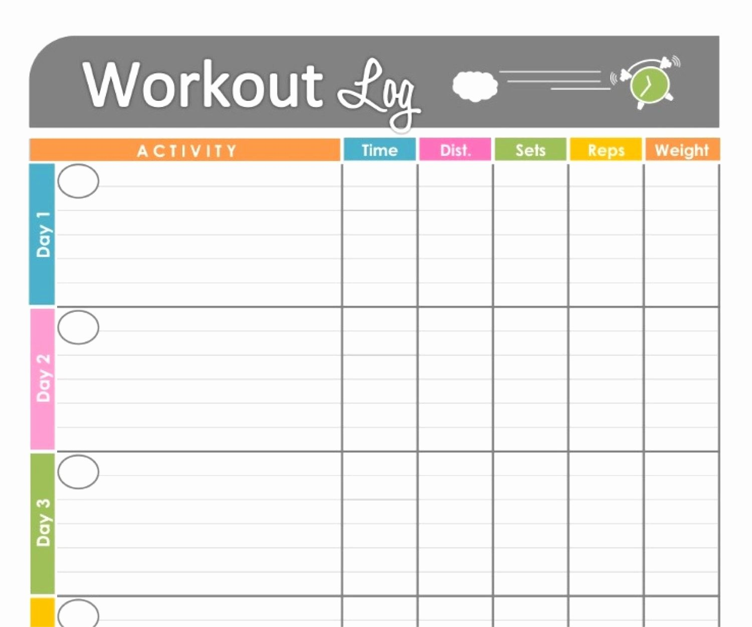 Work Out Schedule Template Lovely Free Printable Workout Schedule