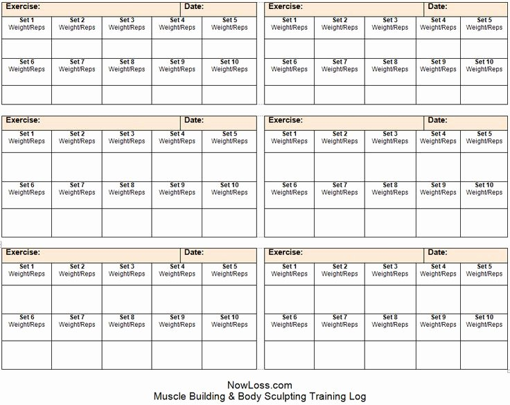 Work Out Schedule Template Luxury Free Workout Schedule