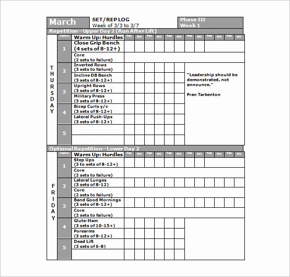 Work Out Schedule Template New 22 Workout Schedule Templates Pdf Doc