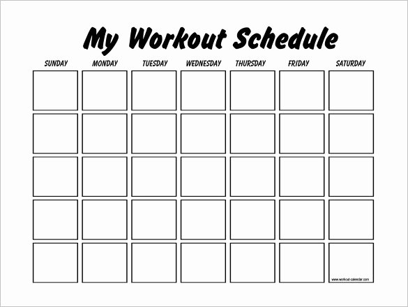 Work Out Schedule Template Unique 22 Workout Schedule Templates Pdf Doc