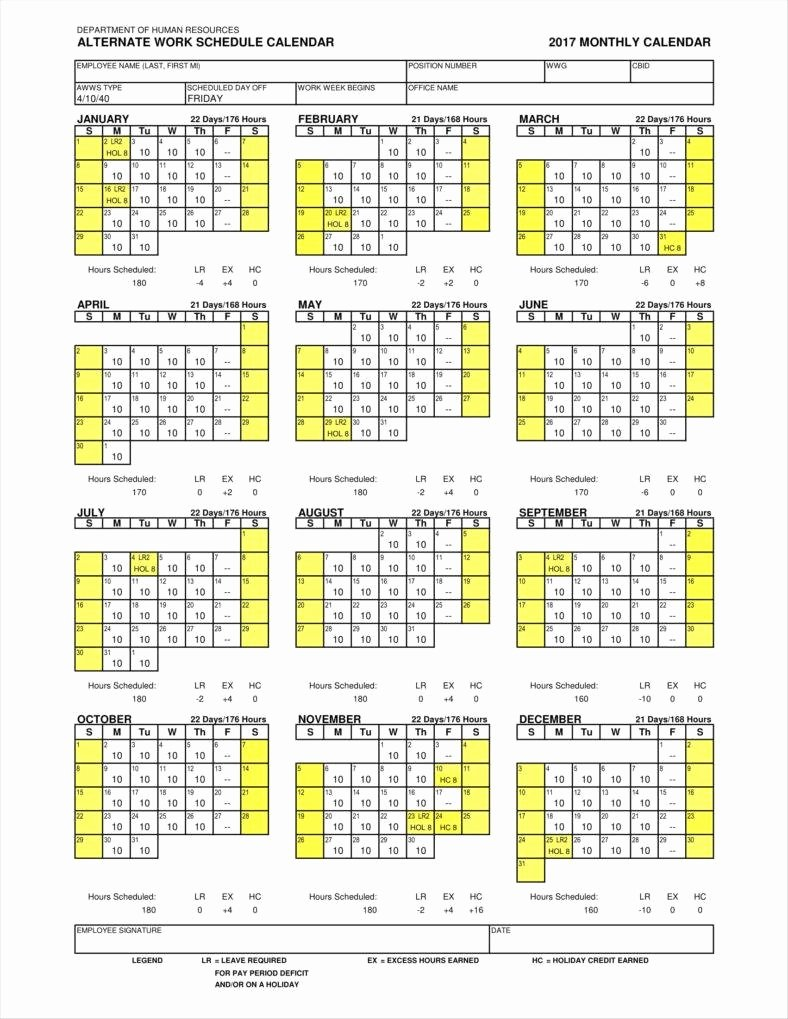 Work Schedule Calendar Template Awesome 9 Employee Calendar Templates Free Samples Examples