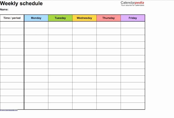 Work Schedule Calendar Template Inspirational 17 Perfect Daily Work Schedule Templates Template Lab