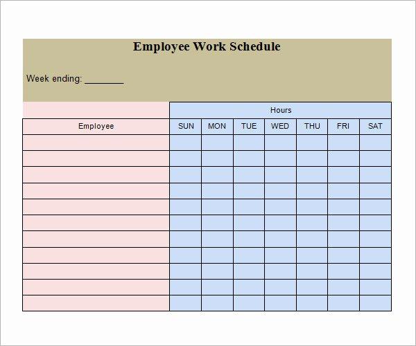 Work Schedule Calendar Template Unique Work Schedule Template 15 Download Free Documents In