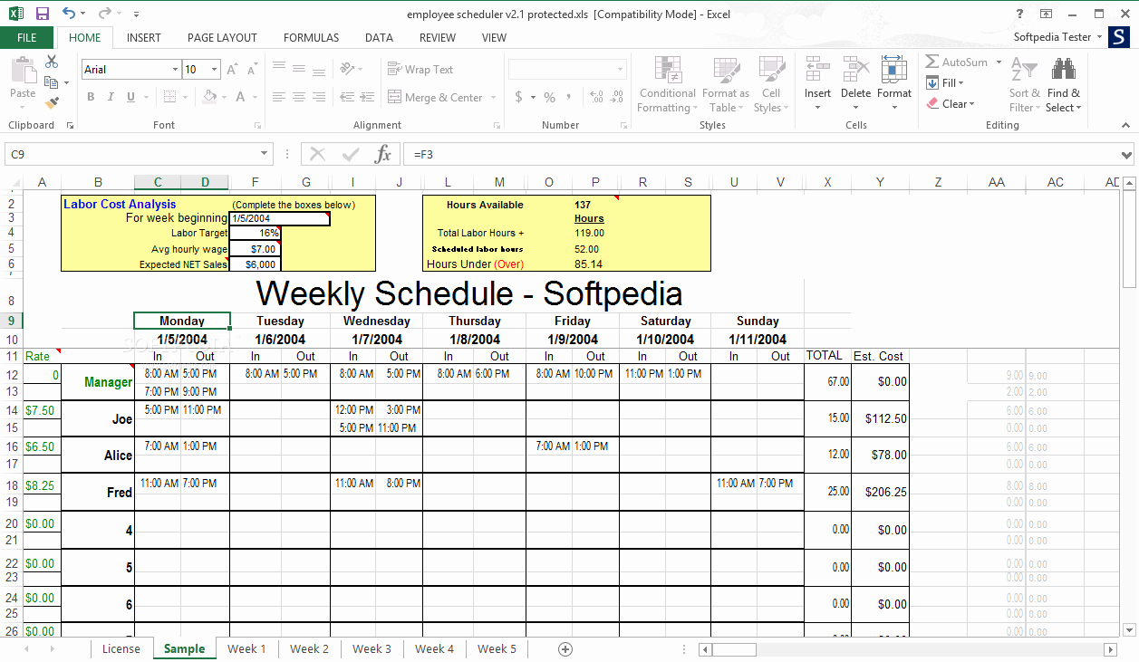 Work Schedule Template Excel New Timetable Generator In Excel
