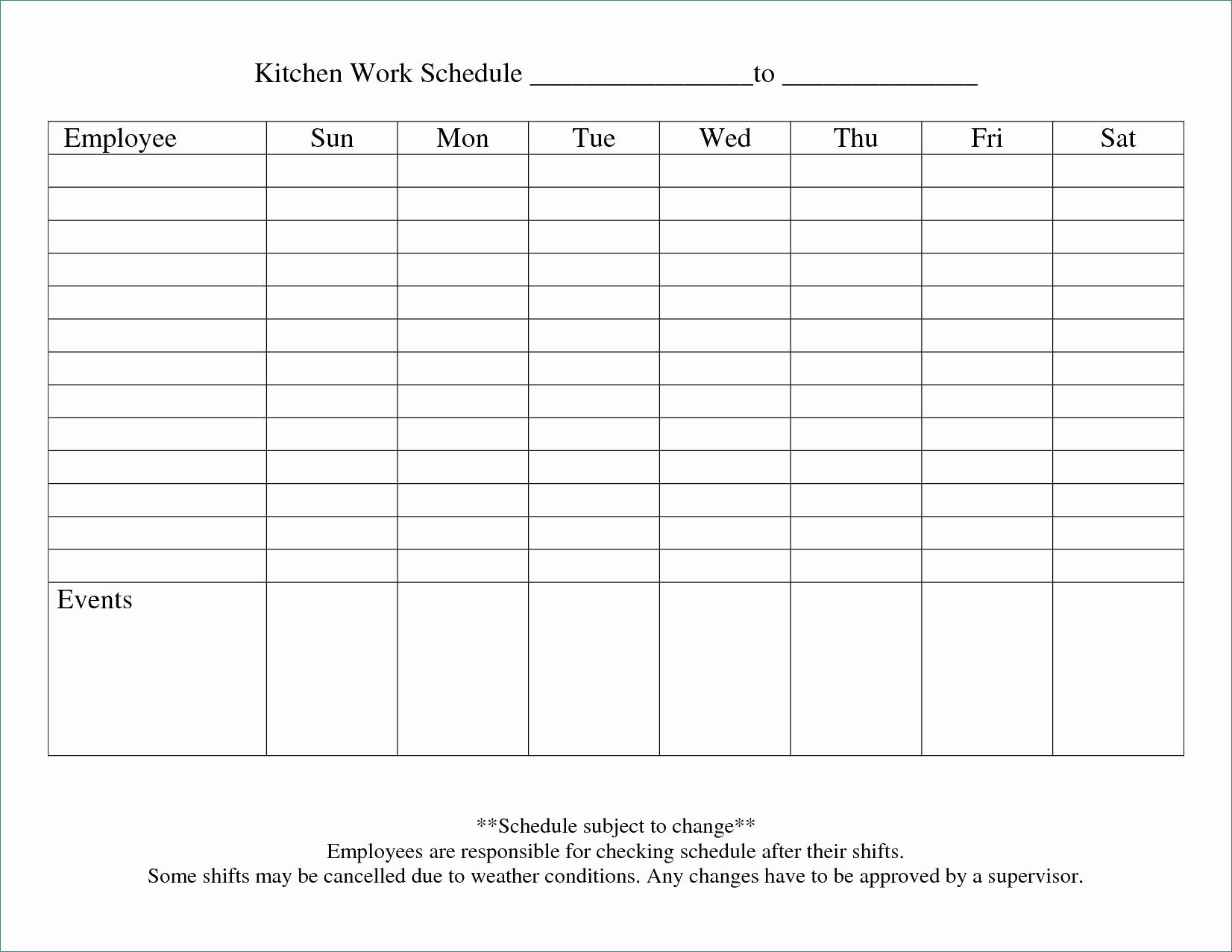 Work Schedule Template Free Best Of Blank Work Schedule Clever 8 Blank Work Schedule Template