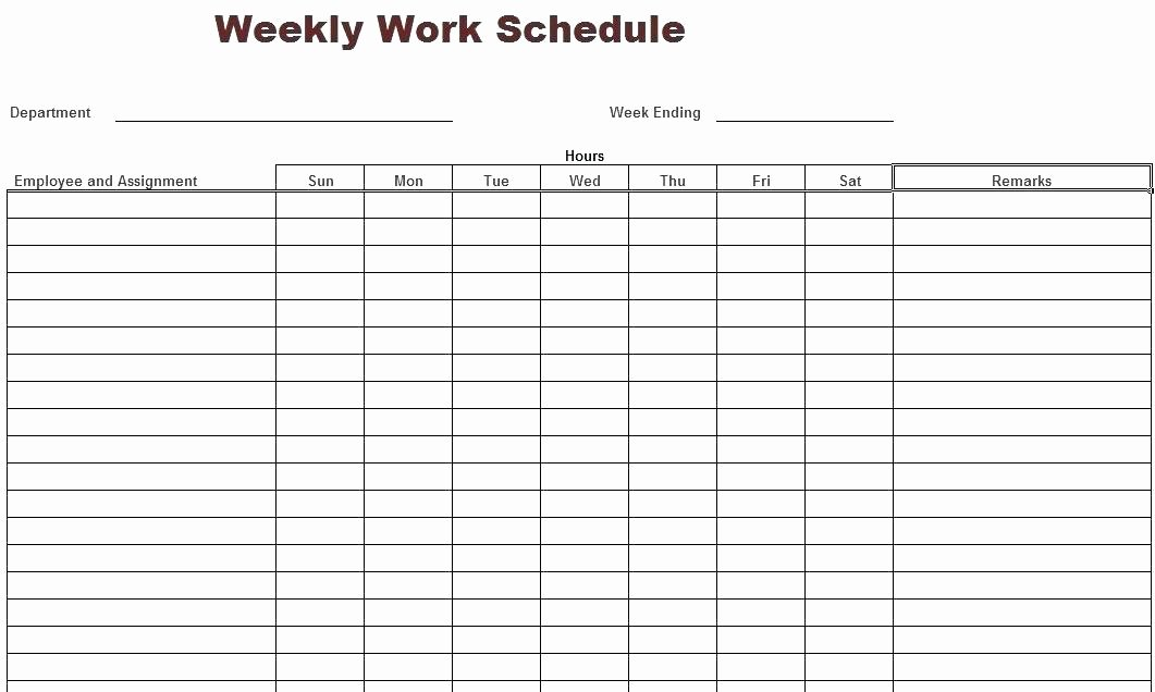 Work Schedule Template Pdf Elegant Work Schedule Templates Free Downloads Download Links