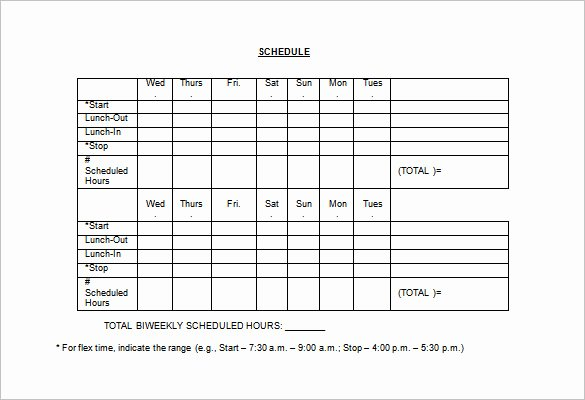 Work Schedule Template Pdf Luxury Employee Work Schedule Template 16 Free Word Excel