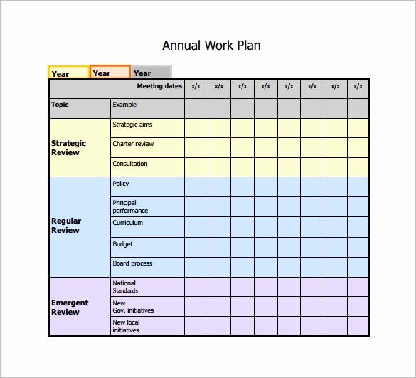 Work Schedule Template Pdf New 19 Work Plan Templates Free Sample Example format