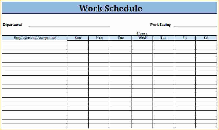 Work Schedule Template Weekly Beautiful Printable Work Schedule Templates