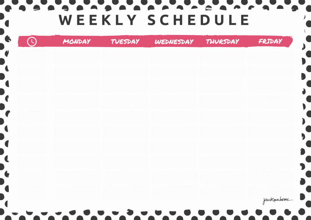 Work Schedule Template Weekly Lovely Work Schedule Template Pdf