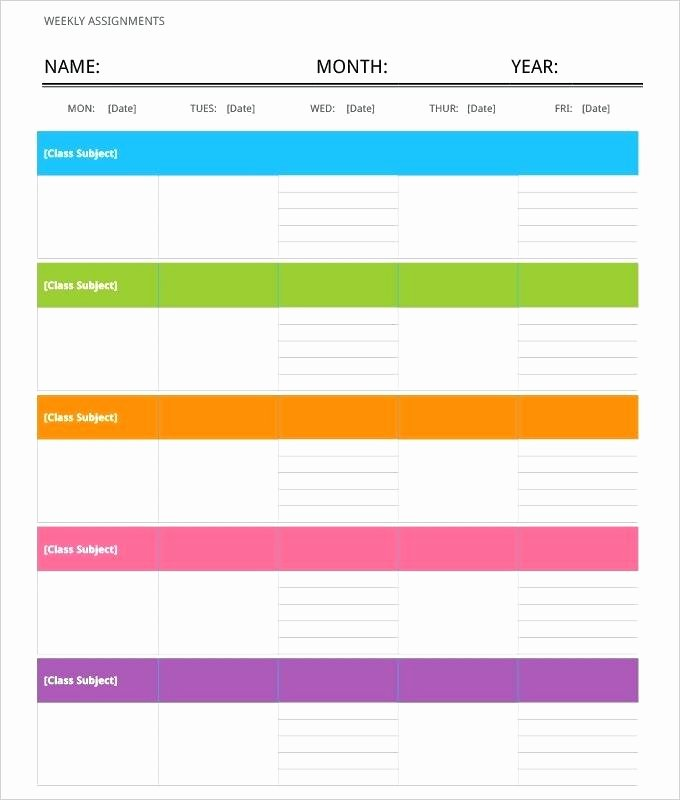 Work Schedule Template Word Luxury 1 Week Schedule Template Blank Weekly Calendar Agenda