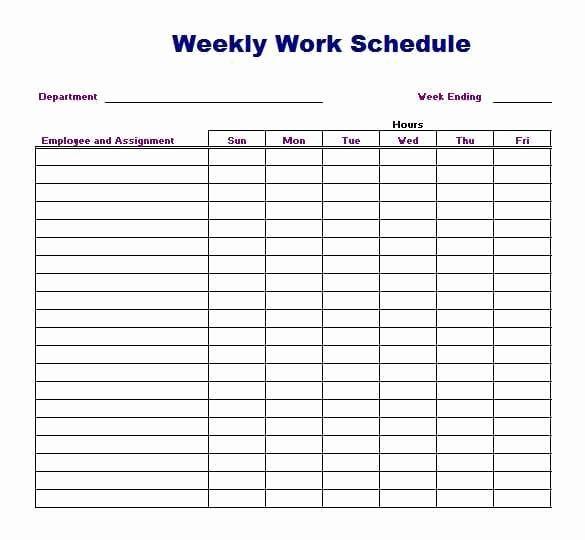 Work Schedule Template Word Luxury 4 Work Schedule Templates Word Excel Templates