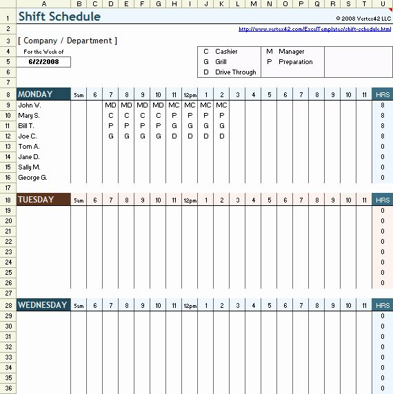 Work Shift Schedule Template Beautiful 24 Hour Shift Schedule Template Free Templates Resume