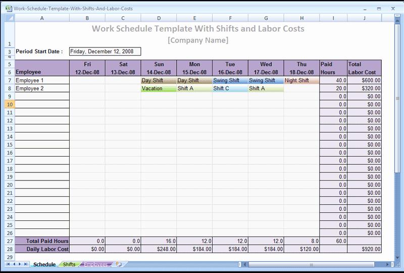 Work Shift Schedule Template Inspirational Screenshot Review Downloads Of Freeware Work Schedule