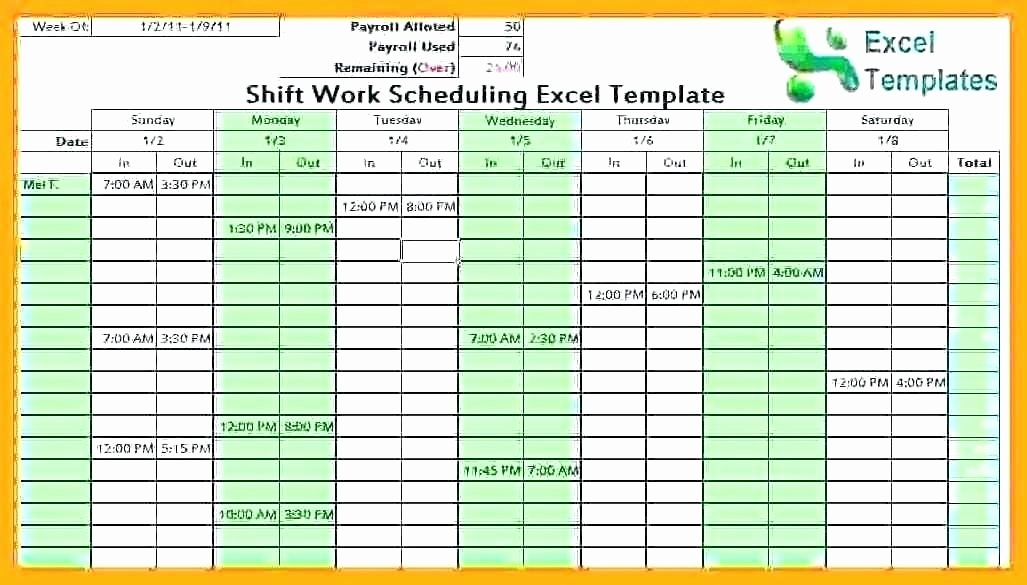 Work Shift Schedule Template Lovely Employee Schedule Maker Excel Schedule Maker Excel
