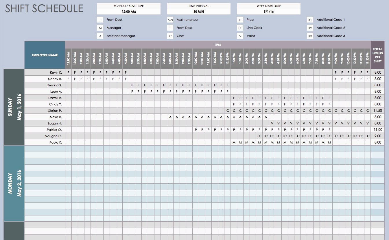 Work Shift Schedule Template New Free Daily Schedule Templates for Excel Smartsheet
