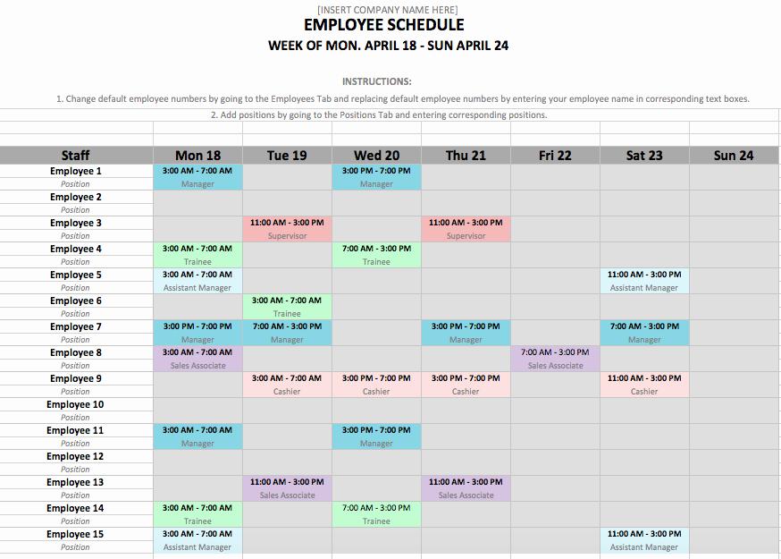 Work Shift Schedule Template New Shift Schedule Template 24 7