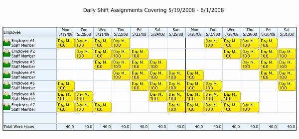 Work Shift Schedule Template Unique 10 Hour Rotating Shift Schedule Template Templates