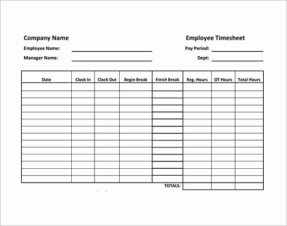 Work Time Sheet Template Awesome Employee Timesheet Sample 11 Documents In Word Excel Pdf