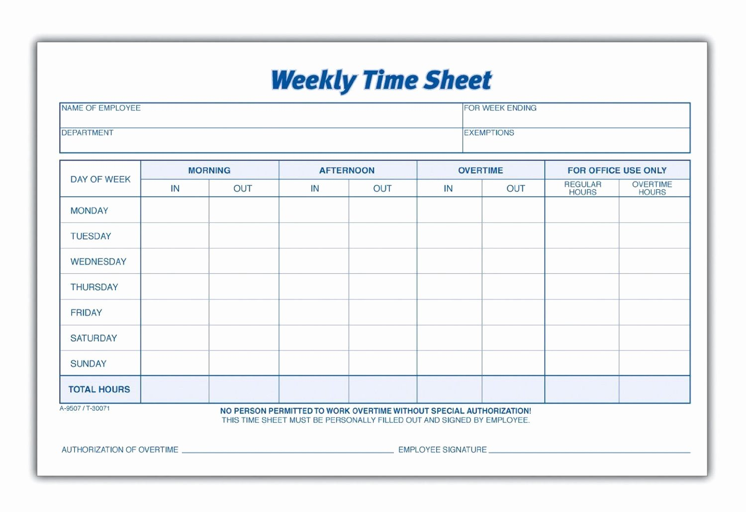 Work Time Sheet Template Awesome Weekly Employee Time Sheet Projects to Try