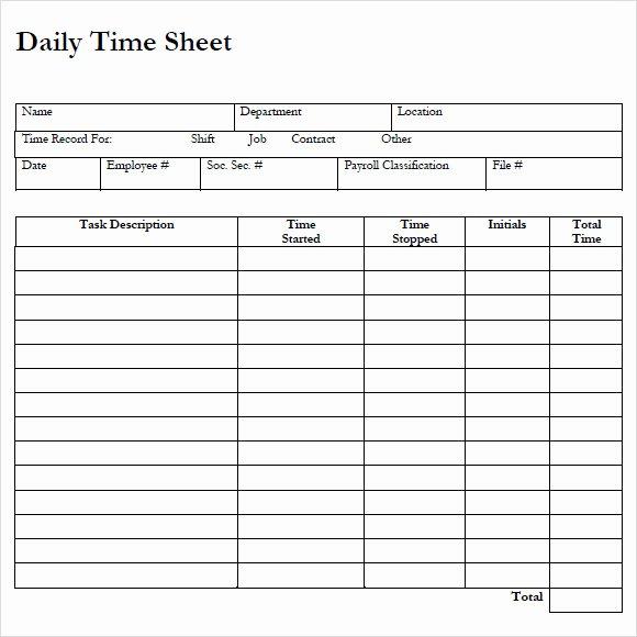 Work Time Sheet Template New Employee Timesheet Templates