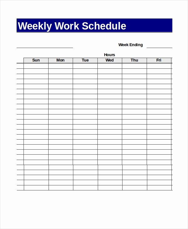 Work Week Schedule Template Elegant 13 Sample Excel Schedule Templates Free Example