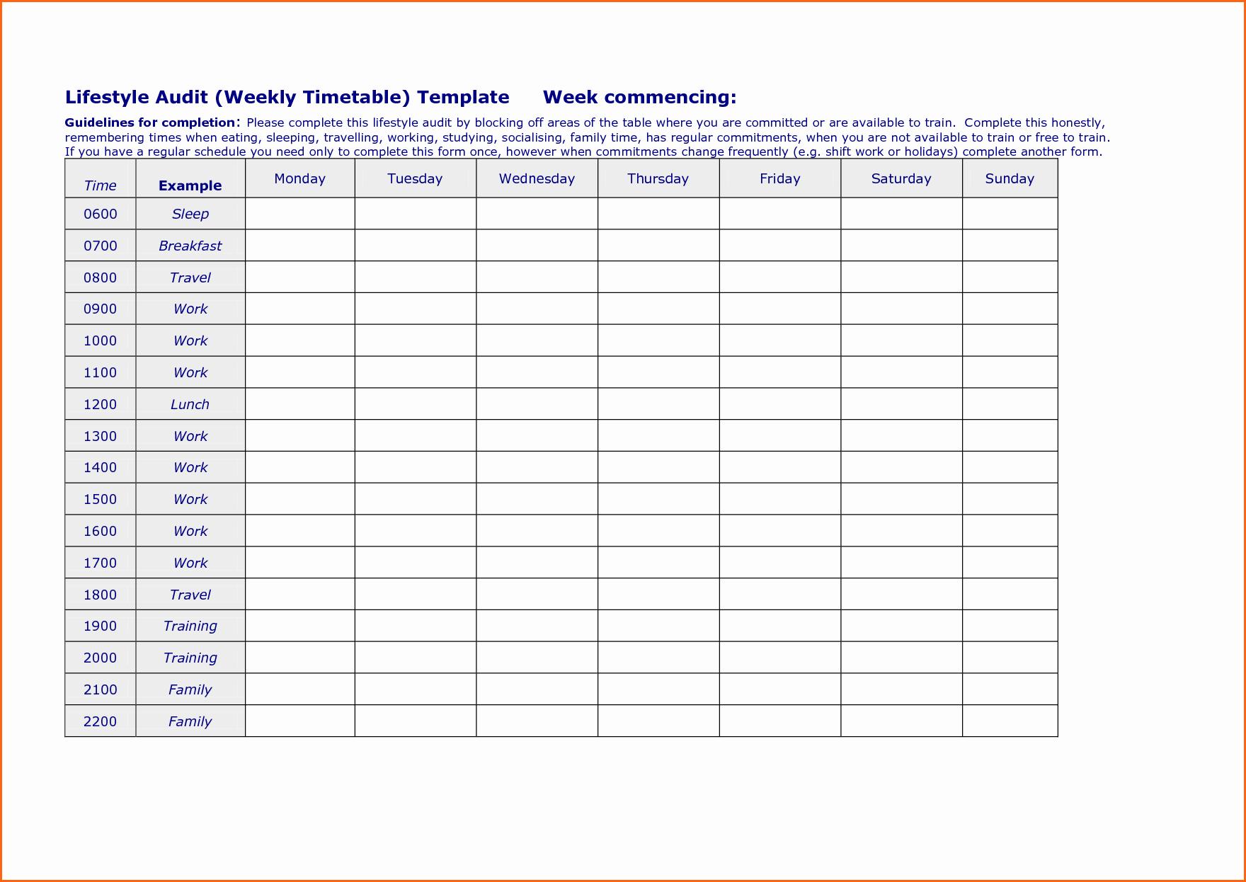 Work Week Schedule Template Elegant 6 Weekly Work Schedule Template Bud Template Letter