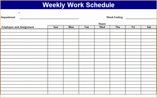 Work Week Schedule Template Luxury 3 Work Week Calendar Template