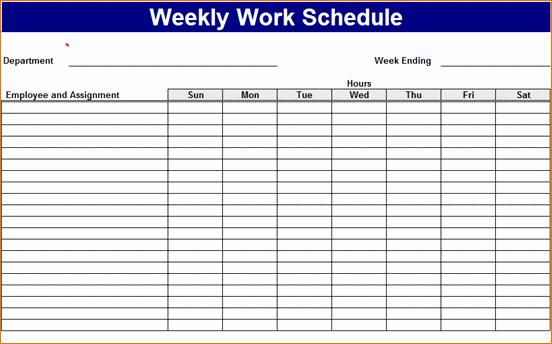 Work Week Schedule Template Luxury 3 Work Week Calendar Template