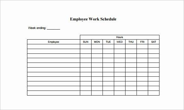 Working Hours Schedule Template New 10 Employee Schedule Templates Pdf Word Excel