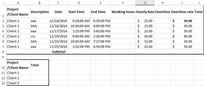 Working Hours Schedule Template Unique How to Create Billable Hours Template In Excel