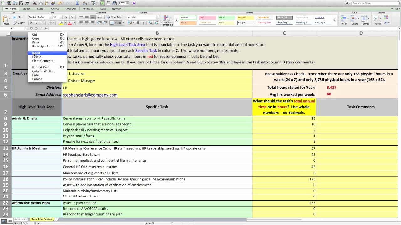 Workload Analysis Excel Template Elegant Workload Capacity Analysis 1 Preparing the Survey