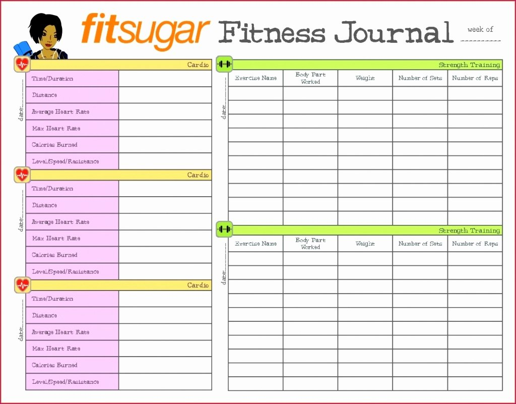 Workout Log Template Excel Beautiful Diet Spreadsheet Template