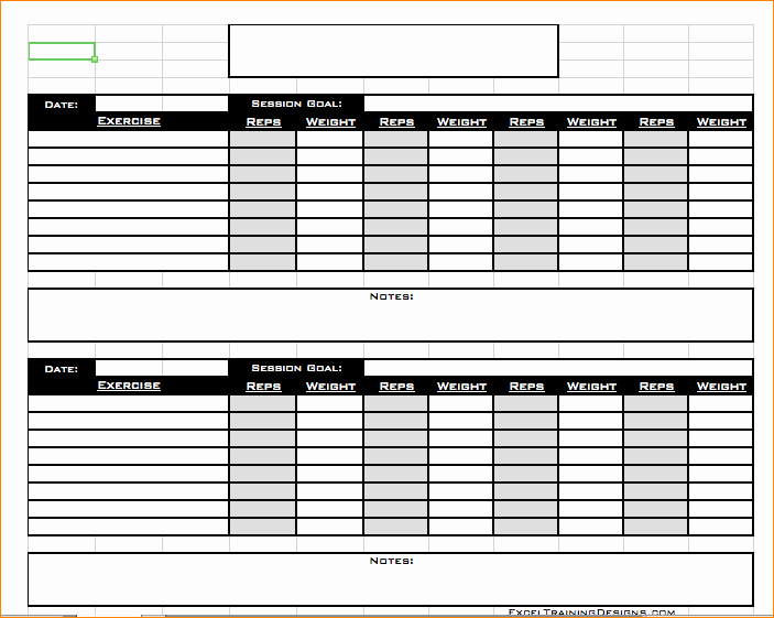Workout Log Template Excel Beautiful Free Personal Training Excel Templates Excel Spreadsheet