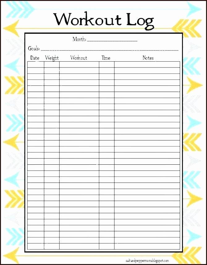 Workout Log Template Excel Elegant Tracking Your Workouts with A Workout Log Template Weight