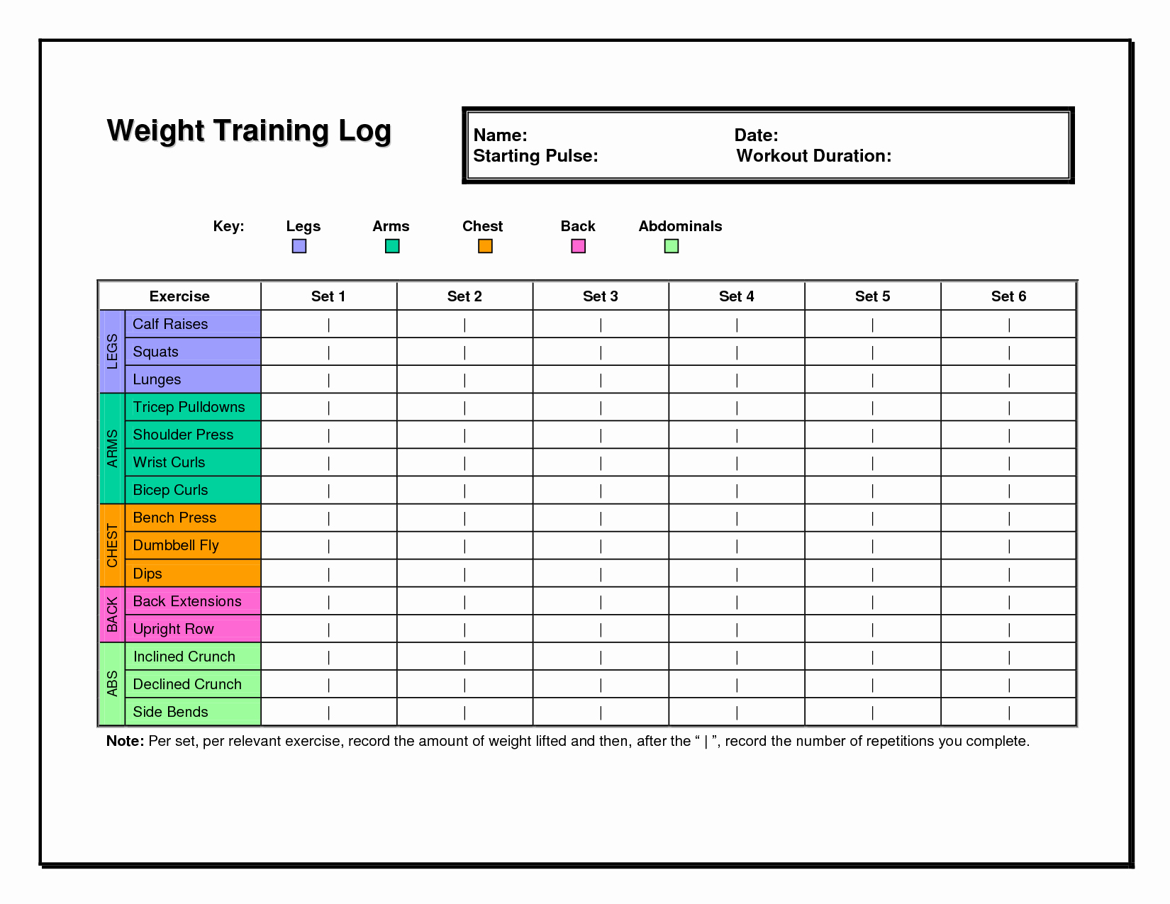 Workout Log Template Excel Fresh 6 Best Of Workout Chart Template Excel Weight