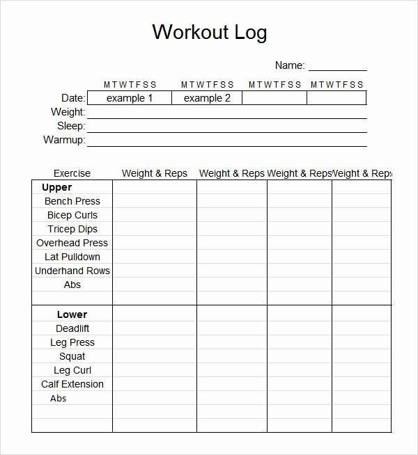 Workout Log Template Excel Inspirational Workout Log Template Excel Invitation Template