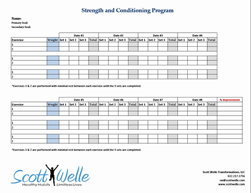 Workout Plan Template Excel Best Of Progressive Overload In Strength Training – Scott Welle