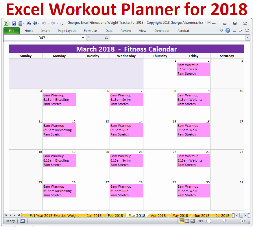 Workout Plan Template Excel Elegant Workout Routines Excel Template