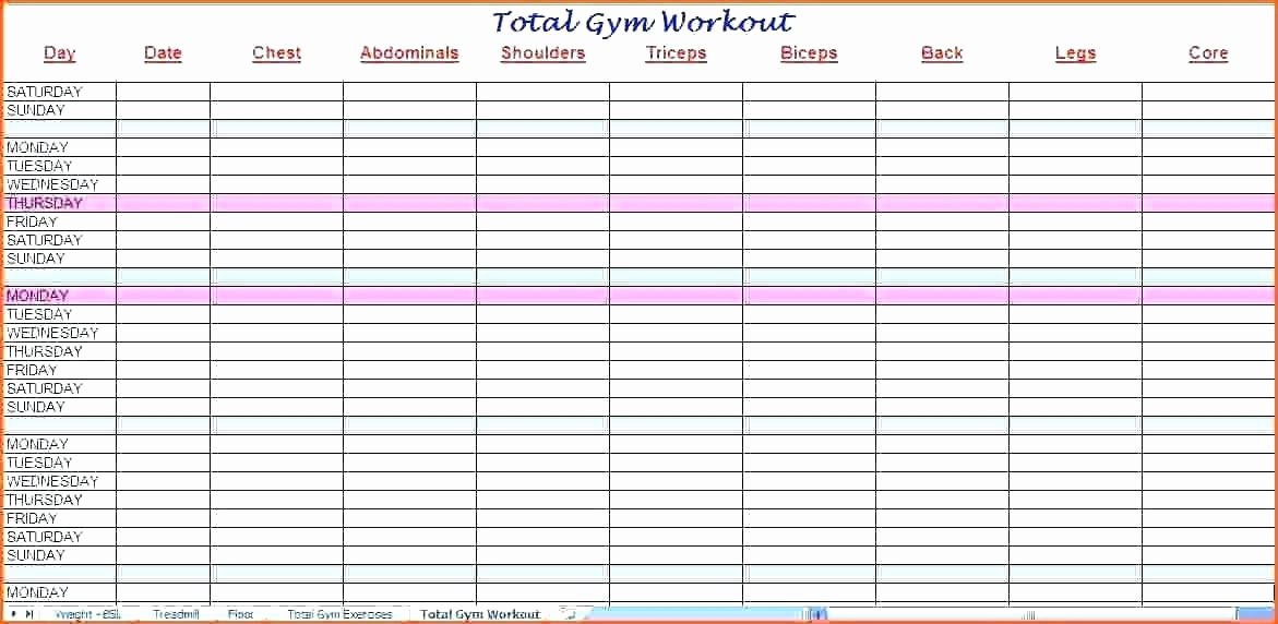 Workout Plan Template Excel Lovely It Training Plan Staff Schedule Template Excel – Flybymedia