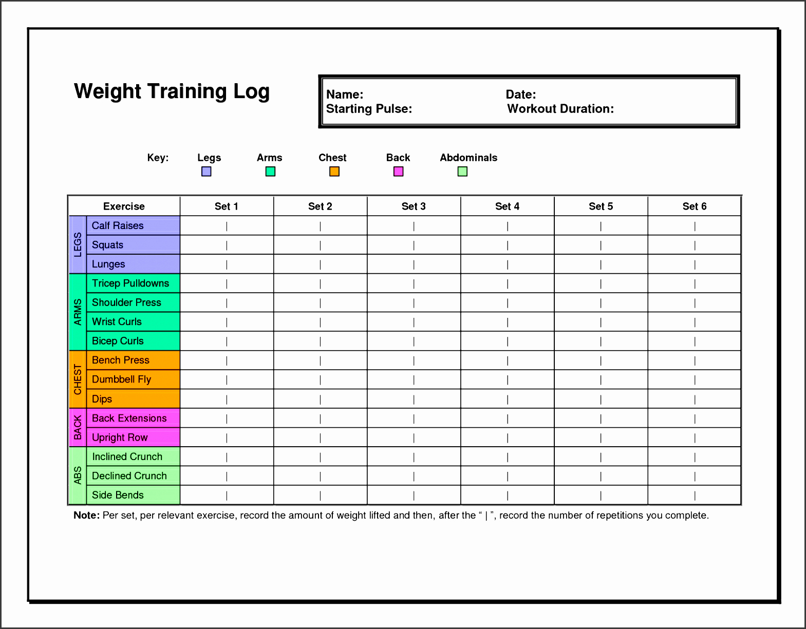 Workout Plan Template Excel Luxury 7 Exercise Planner Template In Excel Sampletemplatess