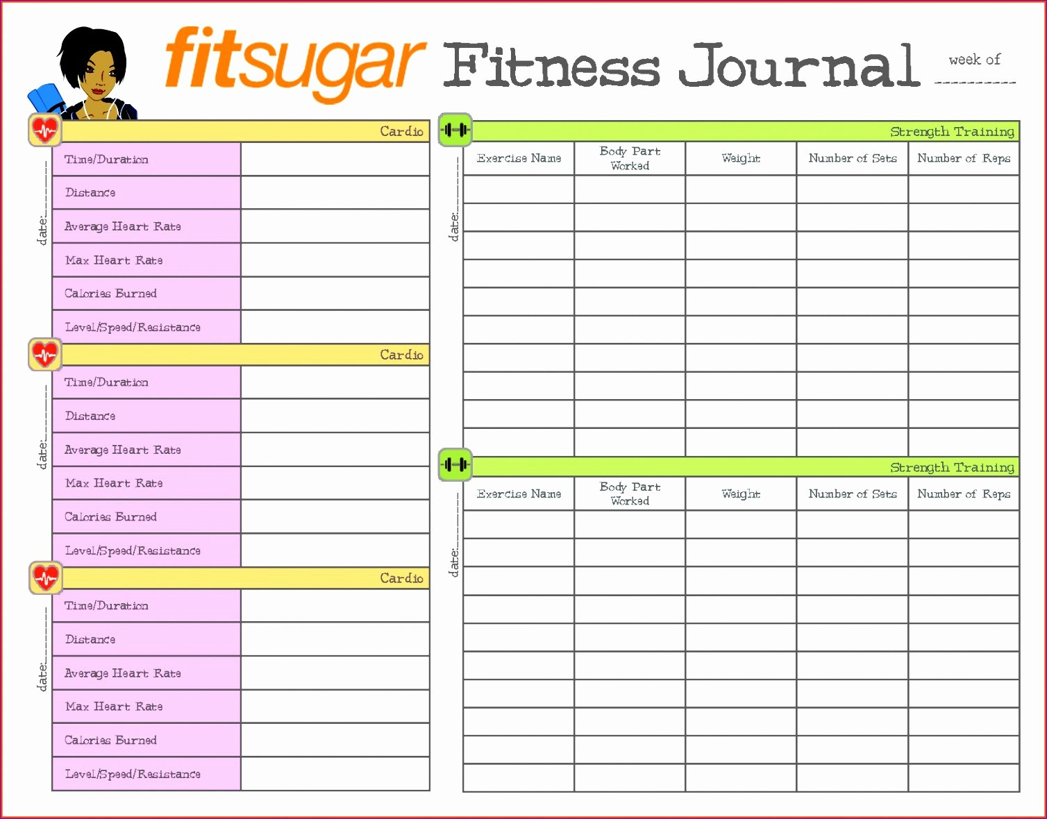 Workout Plan Template Excel New Workout Log Excel Template
