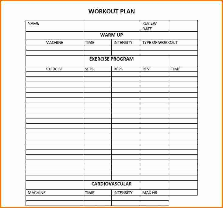 Workout Schedule Template Excel Awesome Daily Workout Calendar 2018 Template Excel Word Pdf