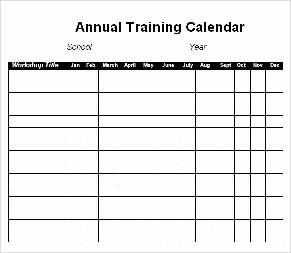 Workout Schedule Template Excel Fresh 12 Sample Training Calendar Templates to Download