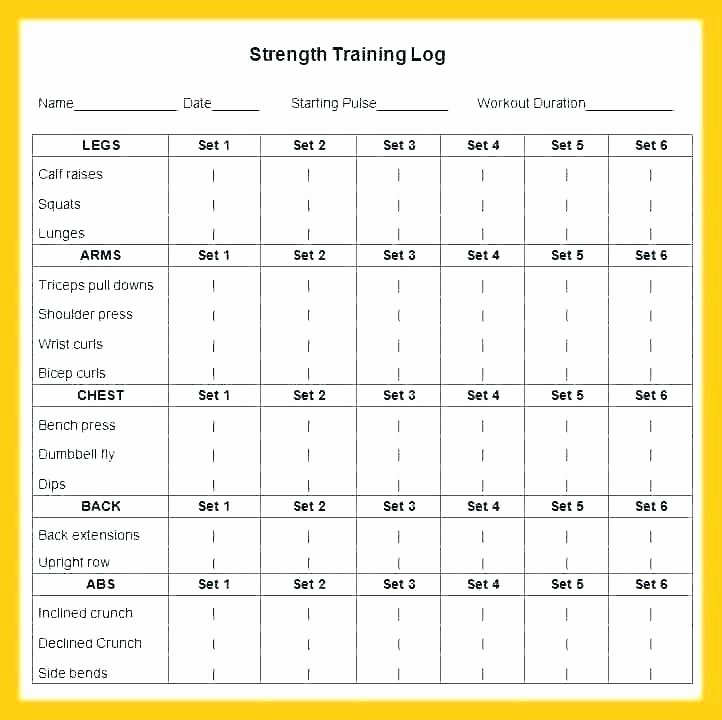 Workout Schedule Template Excel Inspirational Exercise Program Templates Template Doc Workout Card