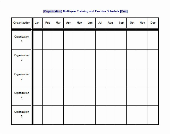 Workout Schedule Template Excel Inspirational Exercise Schedule Template – 7 Free Word Excel Pdf