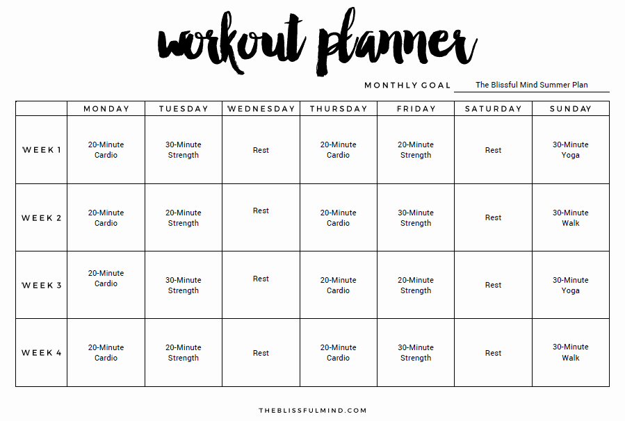 Workout Schedule Template Excel Luxury 9 Excel Workout Templates Excel Templates