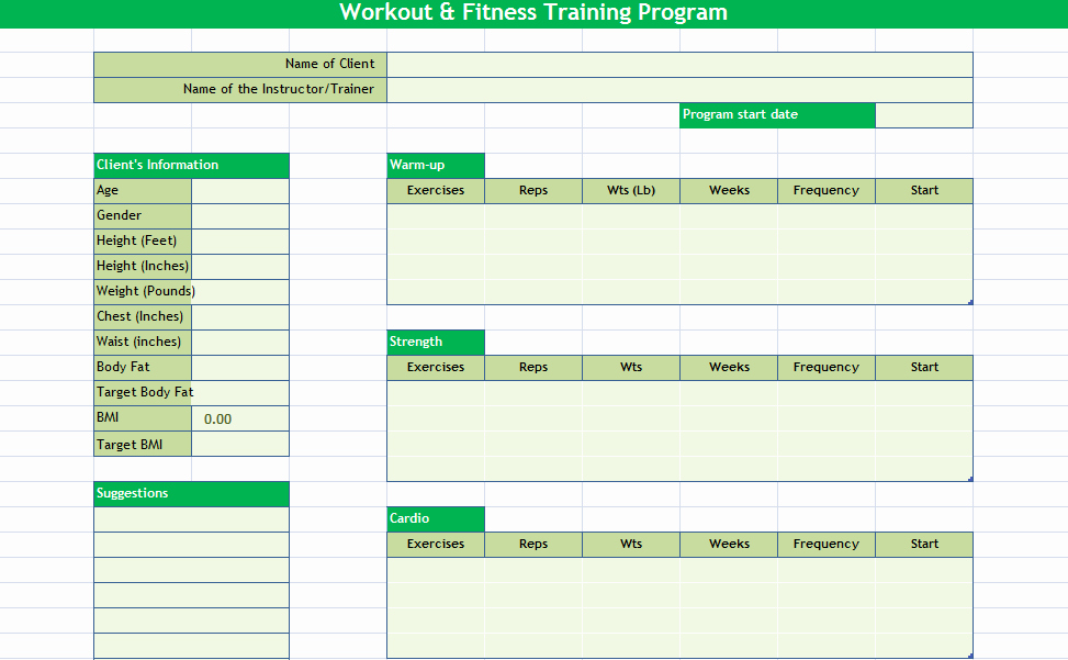 Workout Schedule Template Excel New Daily Workout Calendar 2018 Template Excel Word Pdf
