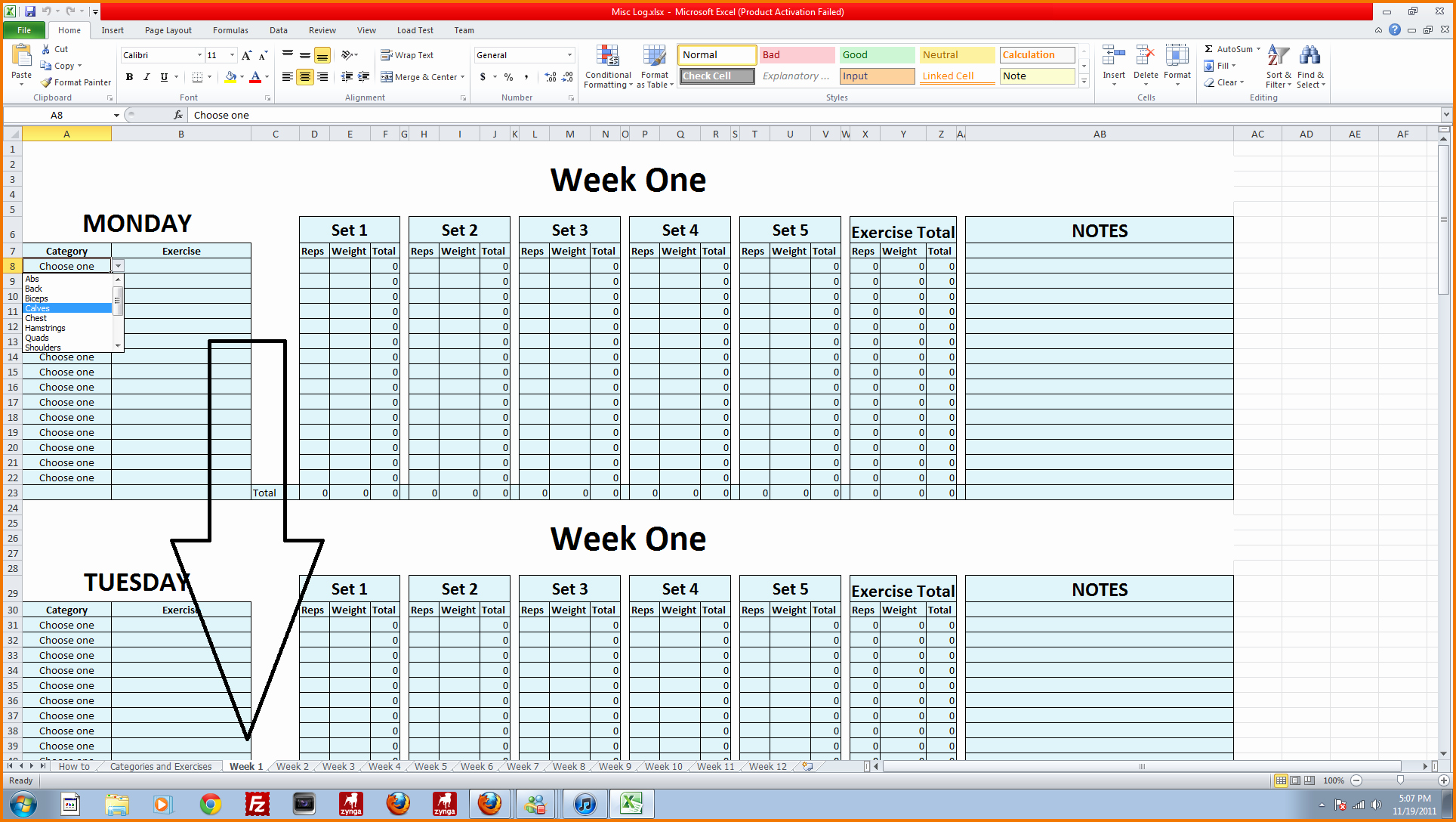 Workout Spreadsheet Excel Template Fresh 5 Workout Log Excel