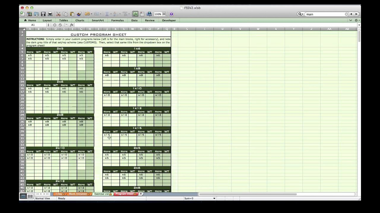 Workout Spreadsheet Excel Template Fresh Personal Training Excel Spreadsheet From Excel Training